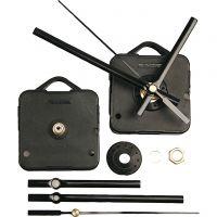Mécanisme d'horloge, cadran d'une épaisseur de 3 mm max., noir, 1 set