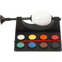 Support pour peindre les oeufs, L: 16,5 cm, noir, 1 set