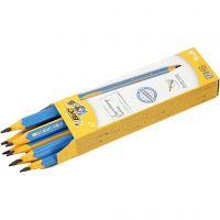 Crayons pour débutants, L: 14 cm, ép. 10 mm, mine 4 mm, 12 pièce/ 1 Pq.