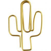 Trombones, cactus, dim. 40x30 mm, or, 6 pièce/ 1 Pq.