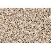 Film adhésif, granite grossier, L: 45 cm, brun, 2 m/ 1 rouleau
