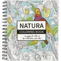 Livre de coloriage anti-stress, nature, dim. 19,5x23 cm, 64 , 1 pièce