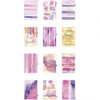 Intercalaires de répertoire, A5, 12 , or, violet, rose, 1 pièce/ 1 Pq.