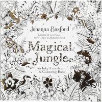 Livre de coloriage anti-stress, Jungle magique, dim. 25x25 cm, 80 , 1 pièce