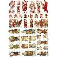 Découpes vintage, Père Noël, 16,5x23,5 cm, 2 flles/ 1 Pq.