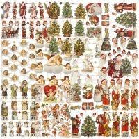 Découpes vintage, Noël, 16,5x23,5 cm, 30 flles/ 1 Pq.