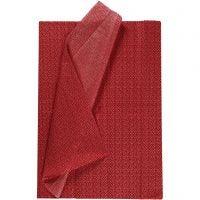 Papier de soie, 50x70 cm, 17 gr, rouge, 6 flles/ 1 Pq.