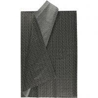 Papier de soie, 50x70 cm, 17 gr, noir, 6 flles/ 1 Pq.