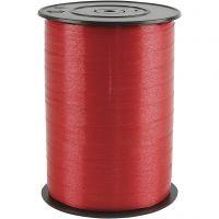 Ruban cadeau, L: 10 mm, brillante, rouge, 250 m/ 1 rouleau