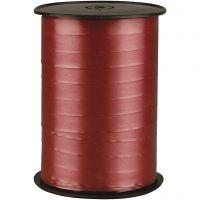 Ruban cadeau, L: 10 mm, brillante, rouge rubis, 250 m/ 1 rouleau