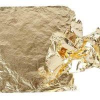 Imitation feuille métal, 16x16 cm, or, 25 flles/ 1 Pq., 0,625 m2