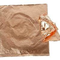 Imitation feuille métal, 16x16 cm, copper, 25 flles/ 1 Pq., 0,625 m2