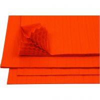 Papier Concertina, 28x17,8 cm, orange, 8 flles/ 1 Pq.