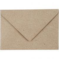 Enveloppes recyclées, dimension enveloppes 7,8x11,5 cm, 120 gr, beige, 50 pièce/ 1 Pq.