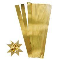 Bandes de papier étoiles, L: 45 cm, d: 4,5 cm, L: 10 mm, or, 100 bandes/ 1 Pq.