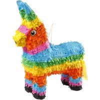 Piñata pour occasion festive, dim. 39x13x55 cm, Couleurs vives, 1 pièce