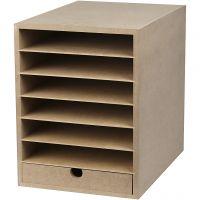 Unité de rangement pour papier, H: 31,5 cm, prof. 32 cm, L: 24,3 cm, A4, 1 pièce