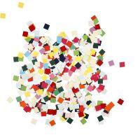 Mosaïques en papier cartonné, carré, dim. 10x10 mm, 180 gr/ 1 Pq.
