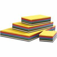 Papier cartonné Colortime, A2,A3,A4,A5,A6, 180 gr, couleurs assorties, 1800 flles ass./ 1 Pq.