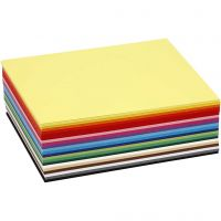 Papier cartonné Colortime, A6, 105x148 mm, 180 gr, couleurs assorties, 300 flles ass./ 1 Pq.