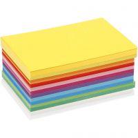 Papier cartonné printemps, A6, 105x148 mm, 180 gr, couleurs assorties, 120 flles ass./ 1 Pq.