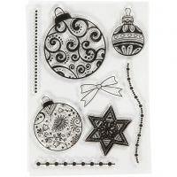 Timbres designs, boules, dim. 10,5x15 cm, 1 flles