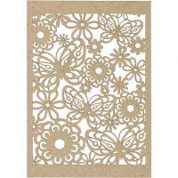 Papier cartonné motif dentelle, 10,5x15 cm, 200 gr, naturel, 10 pièce/ 1 Pq.