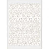 Papier cartonné motif dentelle, 10,5x15 cm, 200 gr, blanc, 10 pièce/ 1 Pq.