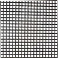 Plastique point de croix, dim. 14x14 cm, diamètre intérieur 3x3 mm, noir, 5 flles/ 1 Pq.