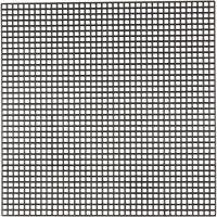 Plastique point de croix, dim. 14x14 cm, diamètre intérieur 3x3 mm, noir, 50 flles/ 1 Pq.