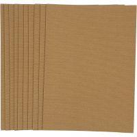 Carton ondulé, 25x35 cm, 120 gr, 10 flles/ 1 Pq.