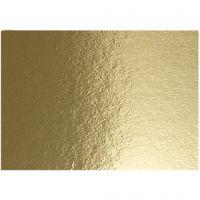 Papier métallisé, A4, 210x297 mm, 280 gr, or, 10 flles/ 1 Pq.