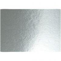 Papier métallisé, A4, 210x297 mm, 280 gr, argent, 10 flles/ 1 Pq.