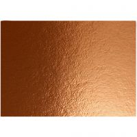 Papier métallisé, A4, 210x297 mm, 280 gr, copper, 10 flles/ 1 Pq.