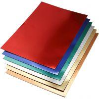 Papier métallisé, A2, 420x600 mm, 280 gr, couleurs assorties, 30 flles ass./ 1 Pq.