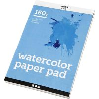 Bloc de papier aquarelle, A5, 148x210 mm, 180 gr, blanc, 20 flles/ 1 pièce