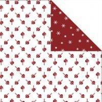 Papier Design, Coeurs et cristaux de glace, 30,5x30,5 cm, 180 gr, 3 flles/ 1 Pq.
