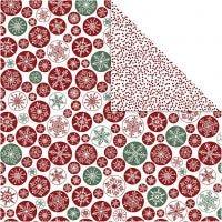 Papier Design, Cristaux de glace et points, 30,5x30,5 cm, 180 gr, 5 flles/ 1 Pq.