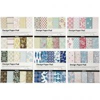 Bloc de papier design, 15,2x15,2 cm, 120 gr, couleurs assorties, 300 flles/ 1 Pq.