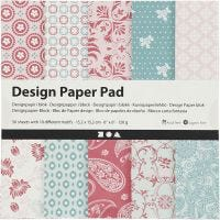 Bloc de papier design, 15,2x15,2 cm, 120 gr, rose, 50 flles/ 1 Pq.