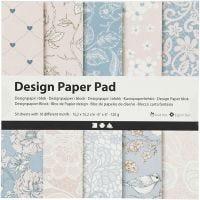 Bloc de papier design, 120 gr, rose, 50 flles/ 1 Pq.