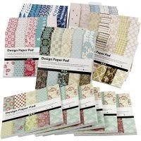 Bloc de papier design, 15,2x15,2 cm, 120 gr, couleurs assorties, 6x10 pièce/ 1 Pq.