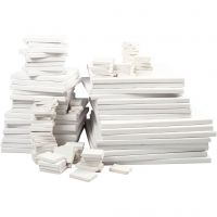 Toiles , prof. 2 cm, blanc, 300 pièce/ 1 Pq.