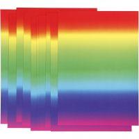 Papier arc-en-ciel, A4, 210x297 mm, 180 gr, 10 flles/ 1 Pq.