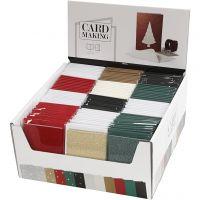 Cartes et enveloppes, dimension carte 10,5x15 cm, dimension enveloppes 11,5x16,5 cm, 12x10 Pq./ 1 Pq.