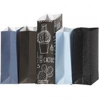 Sac en papier, H: 21 cm, dim. 6x9 cm, 80 gr, 5x10 Pq./ 1 Pq.