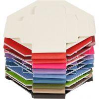 Boîtes à plier colorées, dim. 5,5x5,5 cm, 250 gr, 100 pièce/ 1 Pq.
