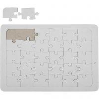 Puzzle, blanc, 10 pièce/ 1 Pq.