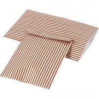 Sac en papier, H: 21 cm, L: 11,5 cm, 80 gr, 12 pièce/ 1 Pq.