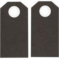 Etiquette, dim. 6x3 cm, 250 gr, noir, 20 pièce/ 1 Pq.